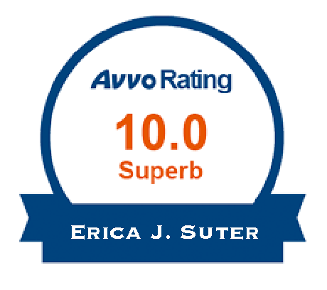 10.0 Avvo Rating for Erica J. Suter